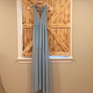 New without tags blue maxi dress
